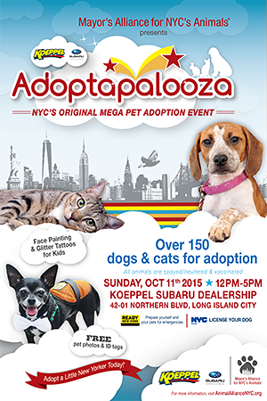 Adoptapalooza Long Island City - Sunday, October 11, 2015