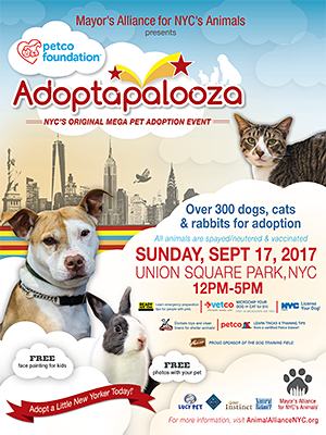 Adoptapalooza Union Square - Sunday, September 17, 2017