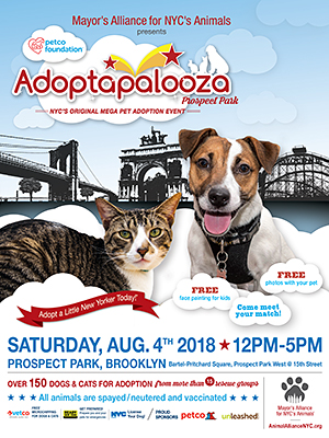Adoptapalooza Prospect Park - Saturday, August 4, 2018