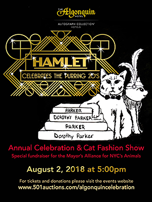 The Algonquin Cat's Annual Celebration - Thursday, August 3, 2017