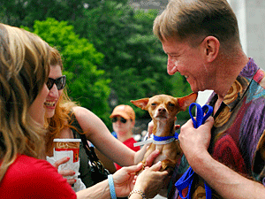 Mega pet adoption events like Adoptapalooza provide pet adoption opportunities, microchipping and dog licensing services, responsible pet ownership education, and fun for the whole family! (Photo by Dana Edelson)